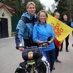 Никита ВасильевОн долго гнал велосипед Чувашский Путешественник Никита Васильев #чувашский_путешественник