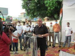 Помощник губернатора Фарук Ахмад Кхан.Велопробег Независимости Индии. Репортаж с веломероприятия в г. Джамму велопробег