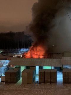 В новогоднюю ночь горела Ярмарка на Гладкова ярмарка пожар