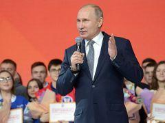 Путин и студентыЛучшие студенты Чувашии встретились с Путиным в Казани Владимир Путин
