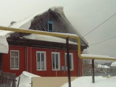 Фотография с места пожара в поселке Буинск18 января в Чувашии зарегистрированы четыре пожара