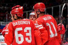 Дадонов отличился дважды. Фото: РИА НовостиСборная России по хоккею провела первый матч на чемпионате мира в Словакии Чемпионат мира по хоккею