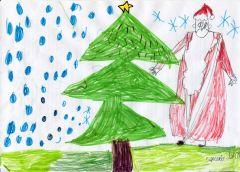 К нам приходит Дед Мороз. Рисунок Елены Сергеевой, 9 летЯ хочу, чтоб в Новый год... На Парнасе