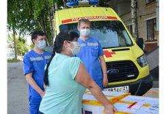 Скорой помощи передали защитные маски и халаты коронавирус #стопкоронавирус