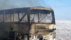 В Казахстане сгорел автобус, направлявшийся в Россию: погибли 52 человека