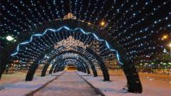В Чебоксарах появился новый световой туннель