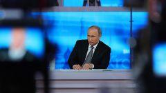 Путин. Прямая линия. Фото: РИА НовостиНа прямой линии Президент России Прямая линия с Владимиром Путиным - 2019