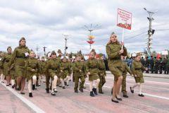 Дошколята вышли на парад Парад дошколят День Победы