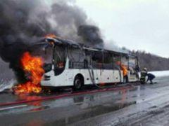 zaghorielsia.jpgВ Комсомольском районе проводится проверка по факту возгорания пассажирского автобуса