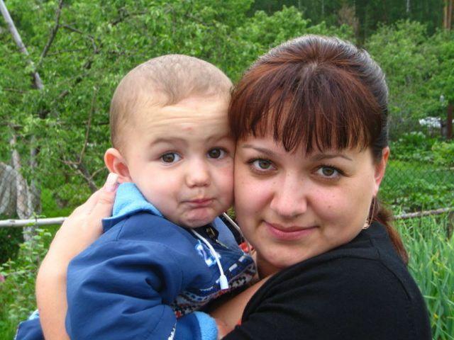 Данил Анчиков с мамой Ольгой