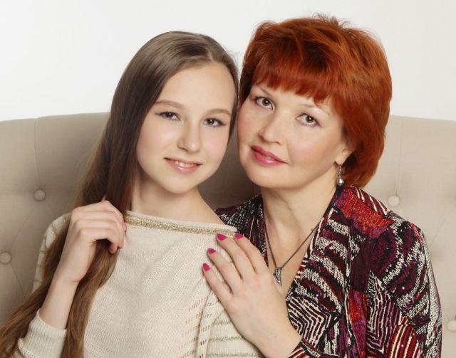 Евгения Васюткина с мамой Мариной