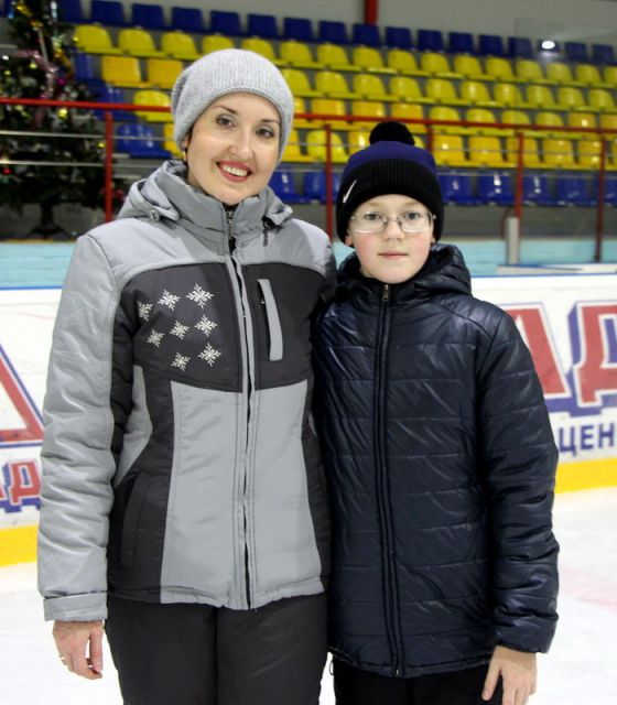 Сергей Ёркин с мамой Ольгой