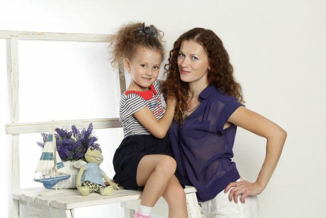 Женечка Максимова с мамой Региной